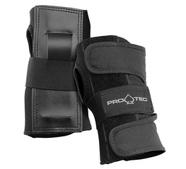 Protec Black Street Wrist Guards