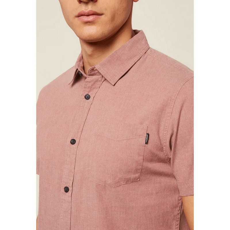 o'neill rust button down shirt