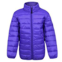 kids purple boulder gear puffy snow jacket