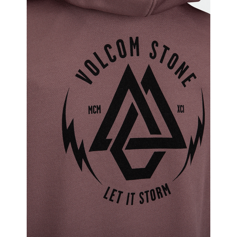 vocom logo on back womens rose sweatshirt