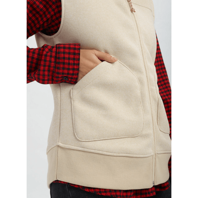 burton minxy vest with pockets