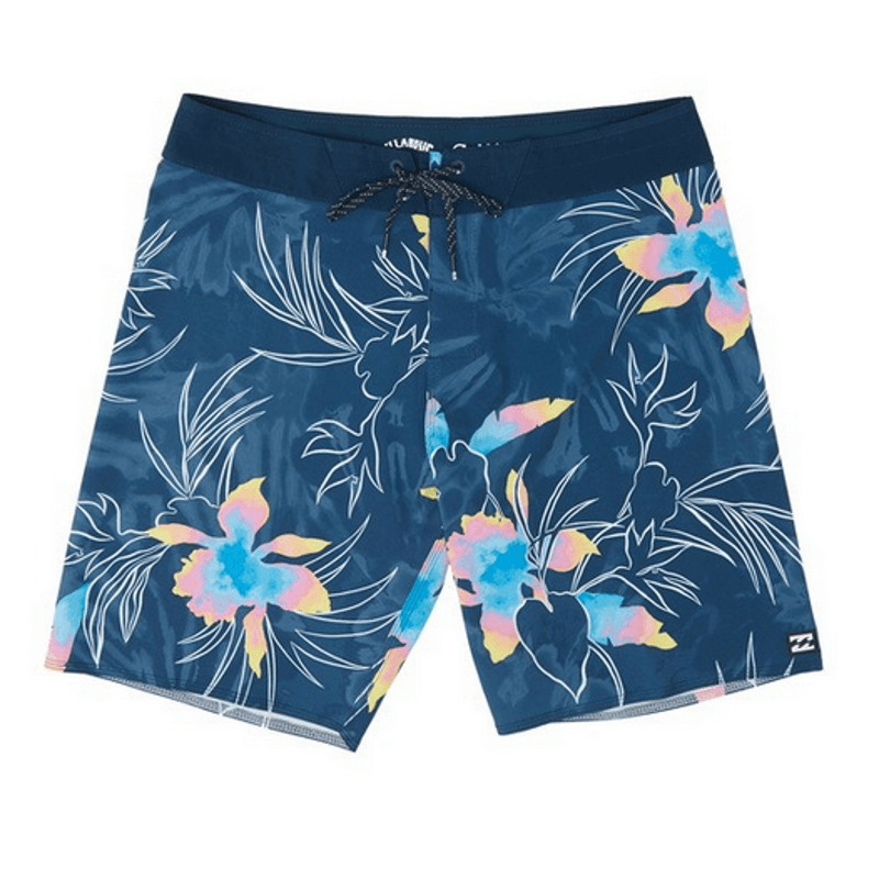 billabong mens navy print swim trunk