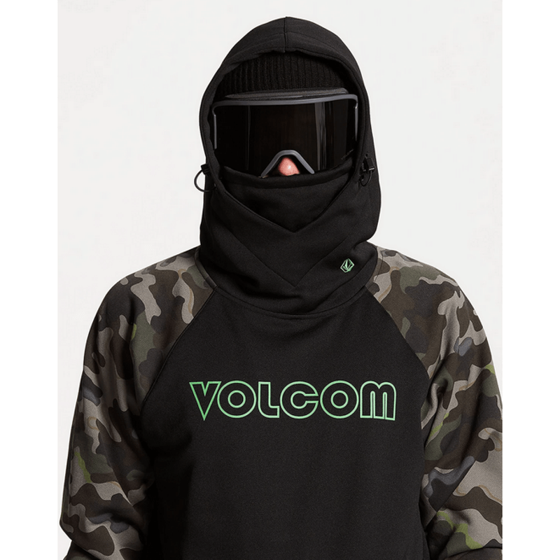 volcom hoodie mens with ovesize hood with face shield