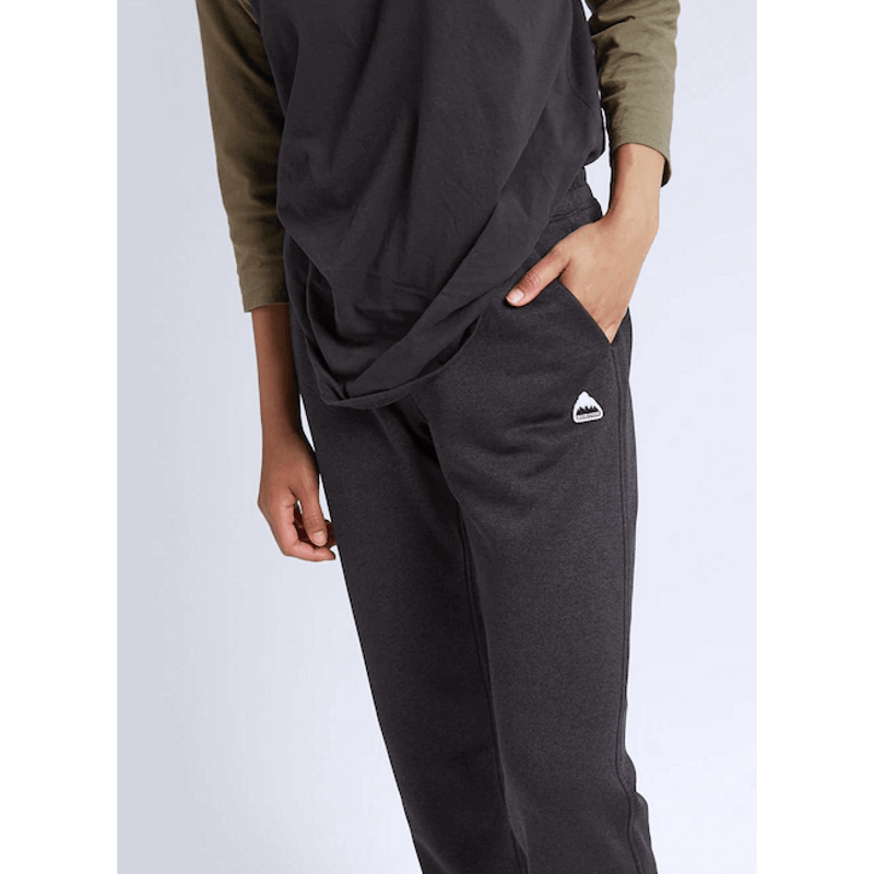 womens black sweat pants with slash pockets