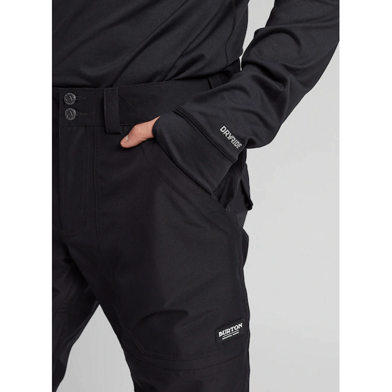 zippered pockets mens black gore-tex snow pants