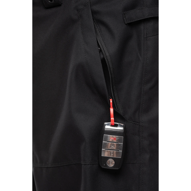 key hook in zippered pocket 686 black vice snow pants