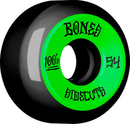 Bones 100s V5 Sidecuts Black 54mm 100a Skateboard Wheels