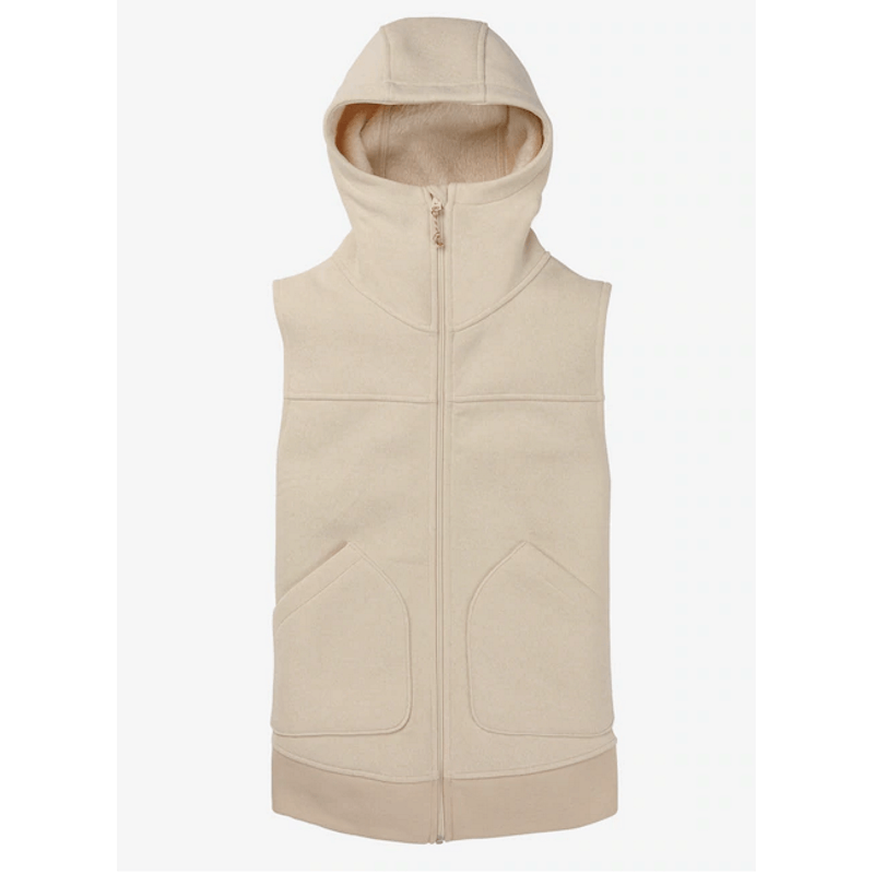 burton cream minx fleece vest