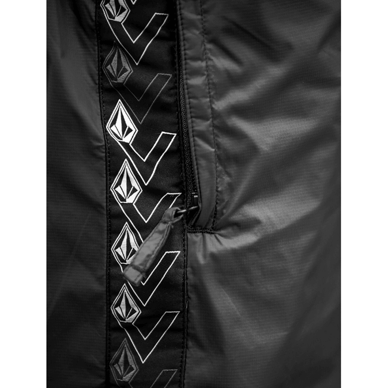 zippered pockets volcom black unisex snowboard pants