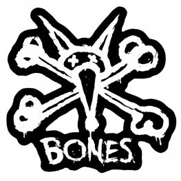 Bones Vato Stacked Sticker Black