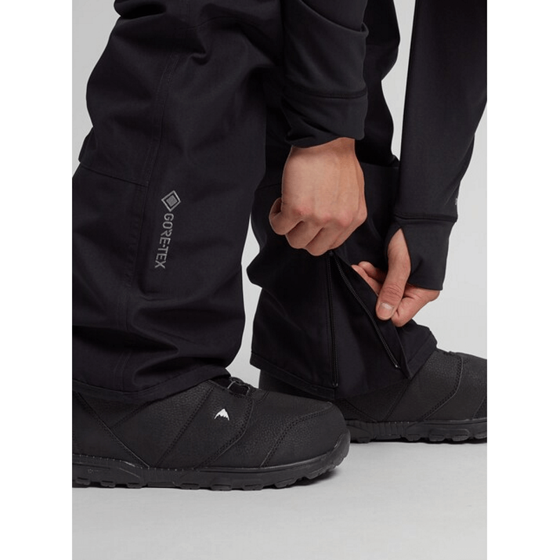 zippered gators burton black gore-tex snow pants