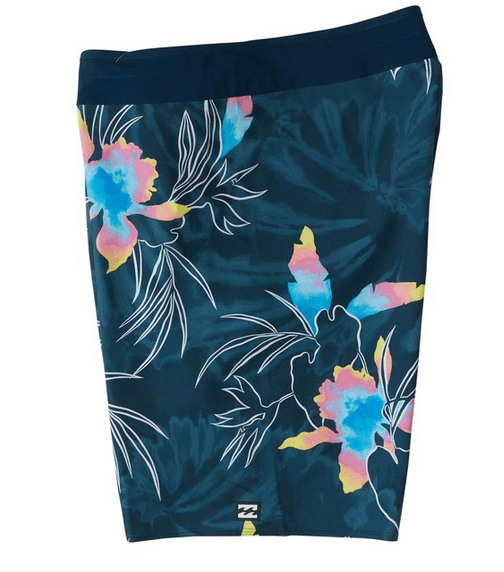 navy print swim trunk billabong