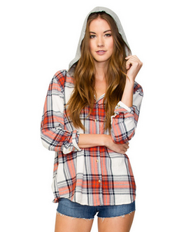Element Felix Womens Indigo Long Sleeve Flex Flannel