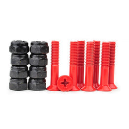 "Prime 1"" Red Skateboard Hardware"