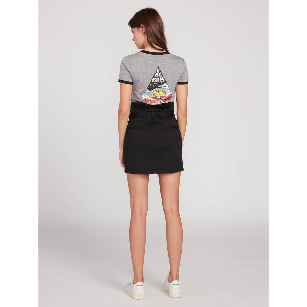Volcom Frochickie Womens Black Skirt