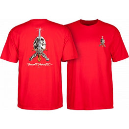 Powell Peralta Skull & Sword Red Tee Shirt