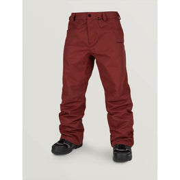 volcom snowboard pants burnt red