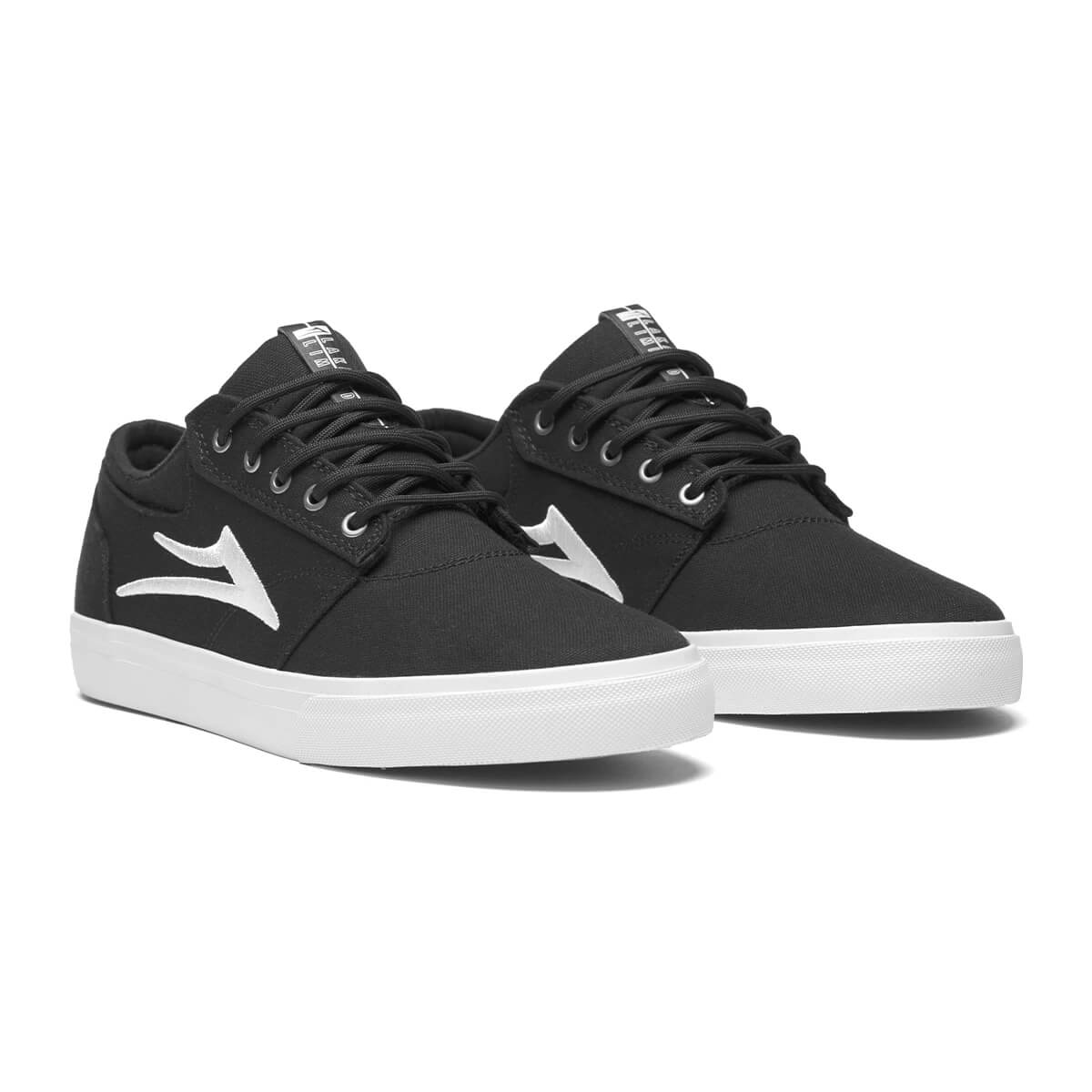 Lakai Griffin Mens Black Canvas Skate Shoe