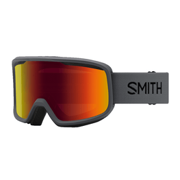 Smith Optics Frontier Charcoal Goggles With Red Mirror Lens