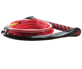 Hyperlite Apex EVA Handle With Red Maxim Line Wakeboard Rope