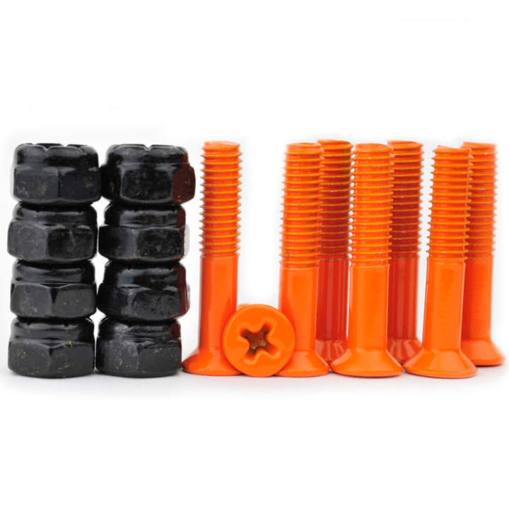 Industrial 1 Inch Orange Skateboard Screws