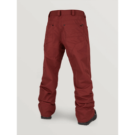 burnt red snow pants
