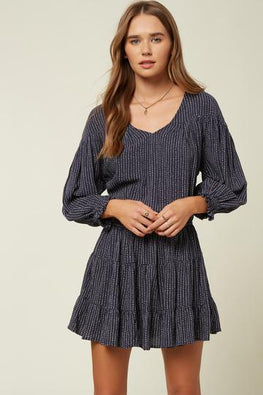 O'Neill Amaryn Womens Navy Blue Dress