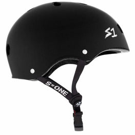 S One Mega Lifer Matte Black Skateboard Helmet