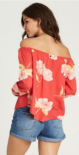 Billabong Mi Amore womens Geranium Top