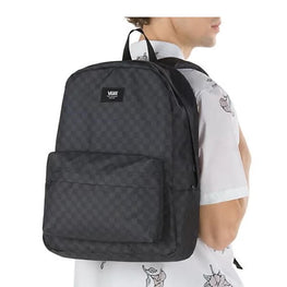 Vans Black and Grey Checkered Backpack