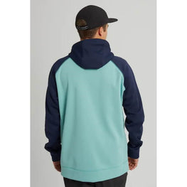 Burton Crown Mens Dress Blue / Buoy Blue Bonded Full Zip Hoodie