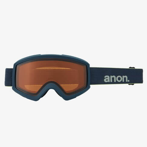 Anon Helix 2.0 Blue Goggles With Perceive Amber Spare Lens