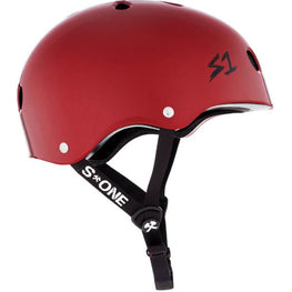 S One Mini Lifer Gloss Blood Red Skateboard Helmet
