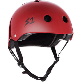 S One Red Skateboard Helmet