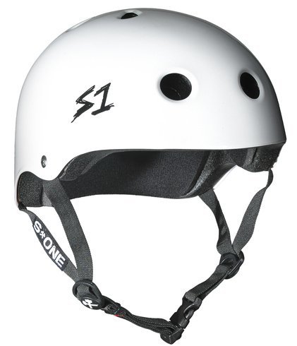 S One Lifer Gloss White Skateboard Helmet