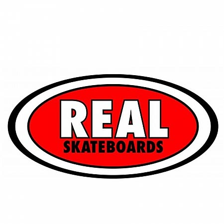 Real Small Oval Classic Sticker