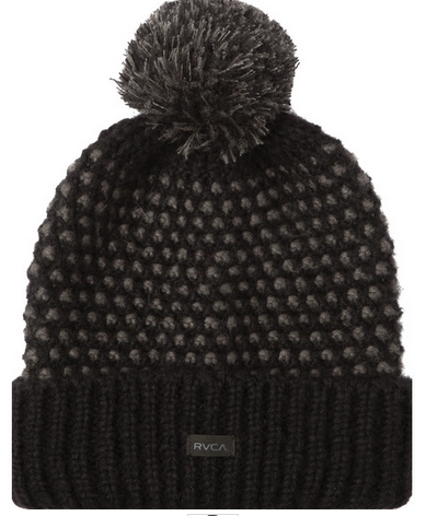 RVCA Get Down Womens Black Knit Beanie