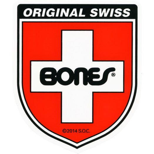 Bones Bearings Original Swiss Shield 4 Inch Sticker