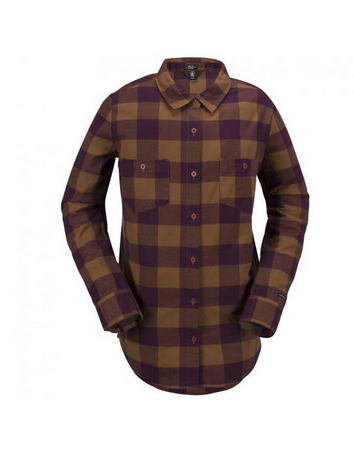 Volcom Granite Womens Copper Flannel Button Up