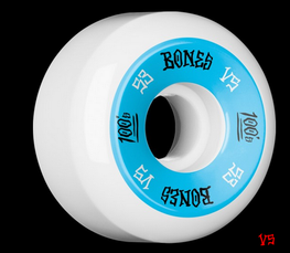 Bones 100's V5 White 53mm Skateboard Wheels