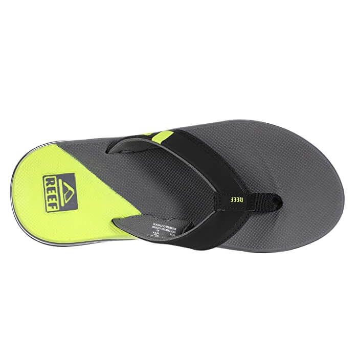 Reef Fanning Low Mens Grey/Lime Sandals