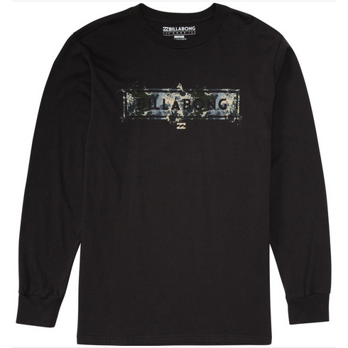 Billabong United Mens Black Long Sleeve T Shirt