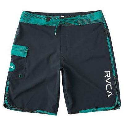 RVCA Eastern Youth Boys Light Teal Boardshorts