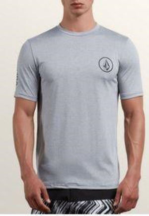 Volcom Lido Heather Mens Pewter Short Sleeve Rashguard