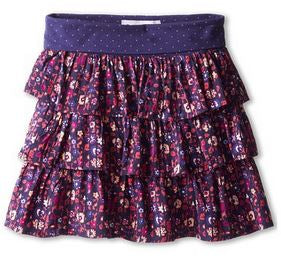 Roxy Pinwheel Youth Girls Indigo Ethnic Floral Ditsy Skirt