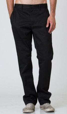 RVCA Week-End Mens Black Stretch Pants