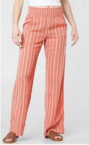 Billabong New Wave Womens Pink Stripe Pants