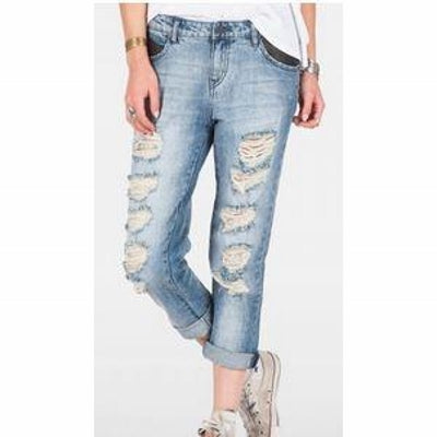 Volcom Womens Stoned Slim Slouch Denim Pant