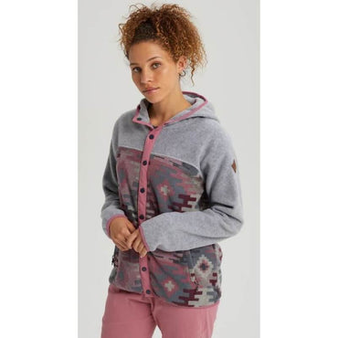 Burton Grey Fleece with Aztec Print