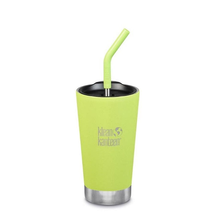 Klean Kanteen Juicy Pear Insulated 16oz Tumbler with Straw Lid
